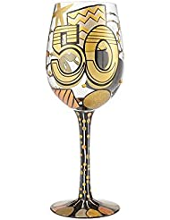 Lolita Glassware 50th Birthday Wine Glass 6000738