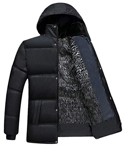 TTYLLMAO Men's Hooded Thicken Wadded Jacket Cotton Padded Down Coat 2