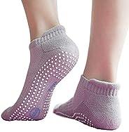 Non-Slip Yoga Socks with Grips for Men and Women, Anti Skid, Ideal for Yoga, Pilates, Ballet, Dance, Barefoot