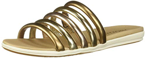 Aerosoles Women's Watch Over Flat Sandal, Metallic Combo, 10 M US