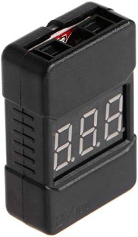 Faironly Hotrc BX100 1-8S Indikator RC Li-ion Lipo Batterie Tester Niederspannungs-Salber Alarm RC Werkzeuge schwarz