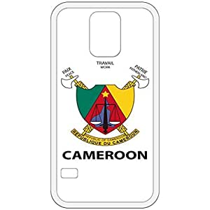Cameroon - Coat Of Arms Flag Emblem White Samsung Galaxy S5 Cell Phone Case - Cover