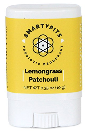 SmartyPits - Natural/Aluminum Free Prebiotic Deodorant (Lemongrass Patchouli) (Travel-Size (Single)) ()