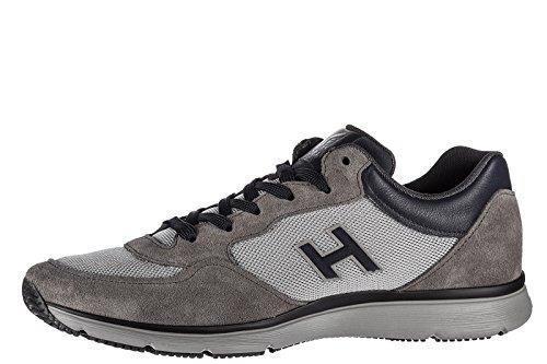 Hogan Zapatos Zapatillas de Deporte Hombres EN Ante Nuevo h254 t2015 h Flock Gri