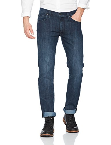 Lee Straight Side Daren Blu Uomo Jeans dark Blue Aaii Zip 1TBwrqg1