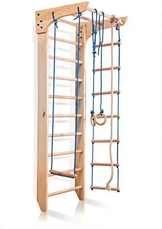 Escalera Sueca Barras de Pared Kinder-2-220, Gimnasia de los niños en casa, Complejo Deportivo de Gimnasia: Amazon.es: Deportes y aire libre