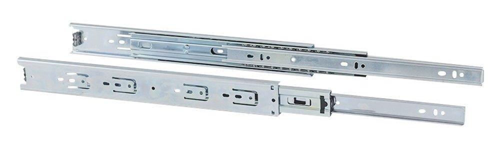 Gedotec Schubladenschiene Vollauszug 300 mm Teleskopschiene KTA Stahl verzinkt | Tragkraft 30 kg | Teleskopauszug kugel-gelagert | Kugelauszug fü r aufliegende Montage | Mö belbeschlä ge | 1 Paar GedoTec®