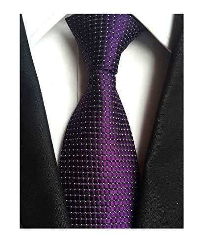 (Mens Noble Dark Grape Purple Ties Unique Wedding Party Suit Microfiber Neckties)