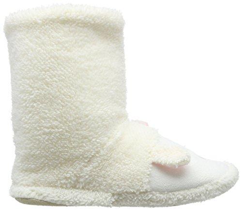 Eaze White Lamb Boot, Zapatillas de Estar por Casa para Mujer Blanco - blanco