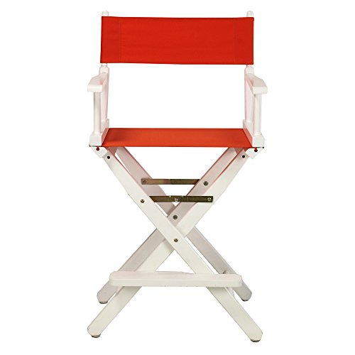 Casual-Home-24-Inch-Director-Chair-White-Frame-Orange-Canvas