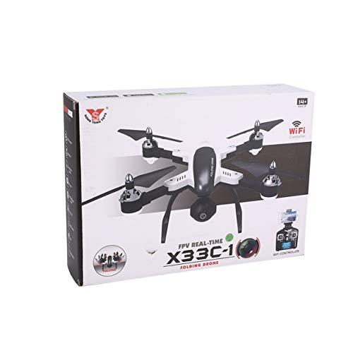 X33C-1セルフシーFPV折りたたみ式RCドローン高度720p Wifiカメラ3Dフリップ(カラー:ブラック - ホワイト)