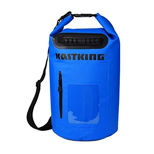 KastKing-Dry-Bag-Waterproof-Roll-Top-Type-Duffel-Bag-with-Zippered-Compartment-and-Grab-Handle