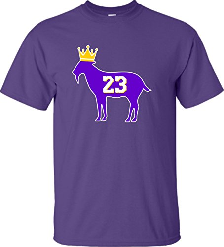X-Large Purple Adult Goat James G.O.A.T. King T-Shirt
