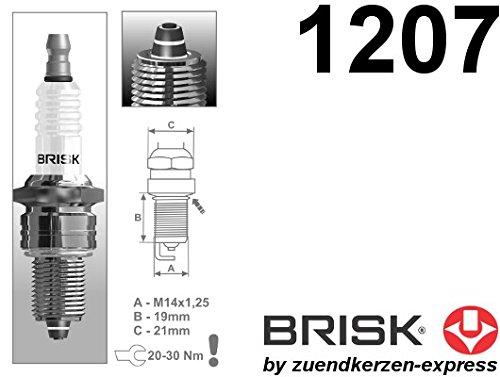 BRISK Premium Racing LR12ZS 1207 Bujías de Encendido, 4 piezas: Amazon.es: Coche y moto