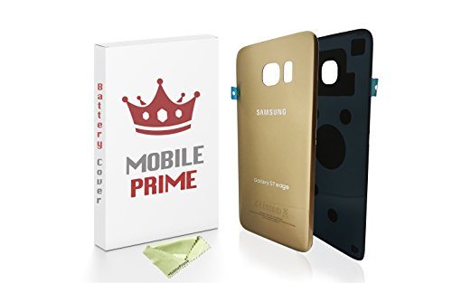 MOBILEPRIME Replacement Back Glass Back Cover for Samsung Galaxy S7 Edge (Gold)