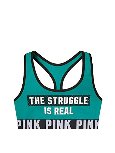 Victoria's Secret Women's Pink Cotton Bra Top Small The Struggle is Real