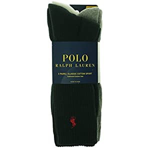Polo Ralph Lauren men's socks Classic Cotton crew assorted 3 pairs