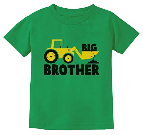 Tstars - Big Brother Gift for Tractor Loving Boys Toddler/Infant Kids T-Shirt 3T Green