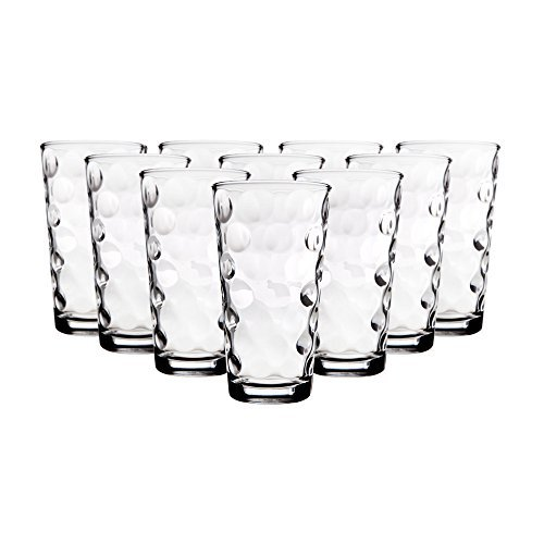 Polka Dot Drinking Glasses (Home Essentials 217 Eclipse 17oz Hiball Set of)
