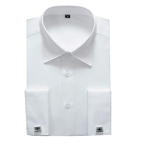 (Alimens & Gentle French Cuff Regular Fit Dress Shirts (Cufflink Included) (17.5