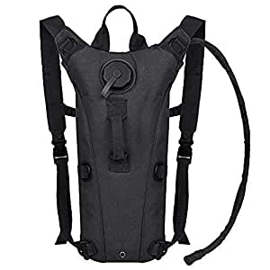 ETCBUYS Hydration Backpack - 2.5L (Liter) Water Pack and Waterproof Tactical Hydration Pack for Running, Hiking, Cycling, Camping, Hunting, Biking, Festivals, Themed Parks and Prevents Dehydration