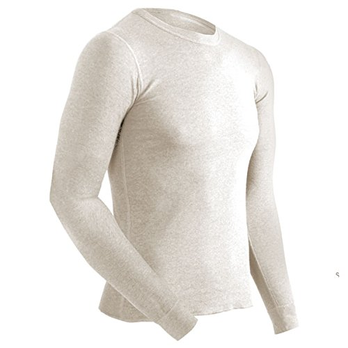 ColdPruf Men's Authentic Dual Layer Long Sleeve Wool Plus Cr