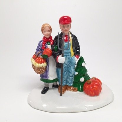 - Department 56 The Original Snow Village Country Harvest Couple People Figurine 54151