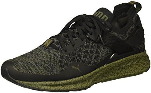 PUMA Men's Ignite Evoknit Lo Hypernature Sneaker, Black