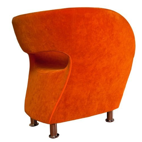 Christopher Knight Home 258647 Salazar Modern Design Accent Chair, Orange - 2
