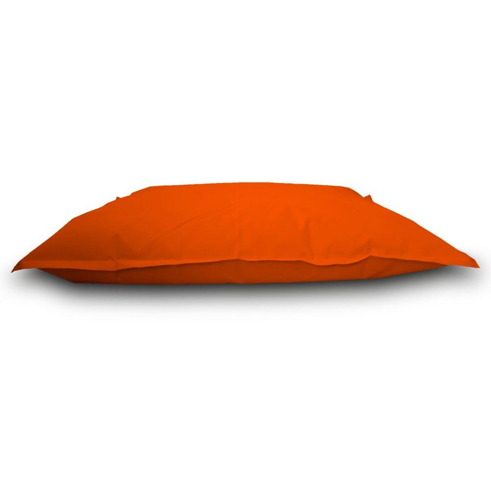 Pufmania Sitzsack Beanbag Doppelbett Polyester Wasserdicht für Außen 130 x 100 cm SchwarzOrange