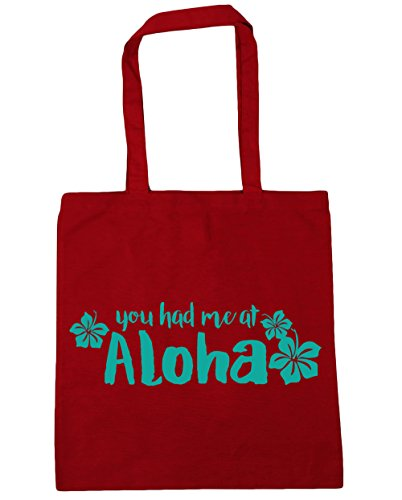 At Had litres Beach Tote Gym Aloha Bag Shopping You Me x38cm Red Classic 10 HippoWarehouse 42cm tq5BnwaW
