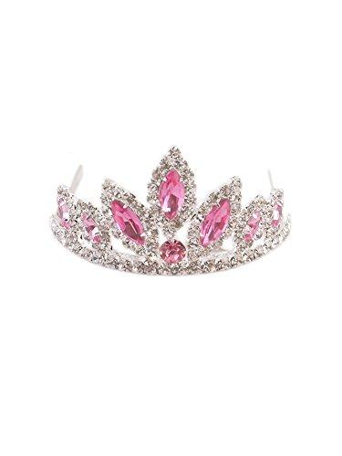 WonderfulDress Dazzling Stoned Crown Tiara