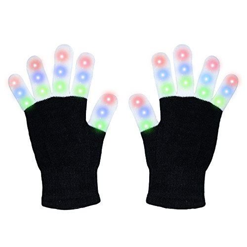 Gicon Led gloves finger lights toys for Party Christmas Halloween Valentine's (Day After Halloween Christmas)