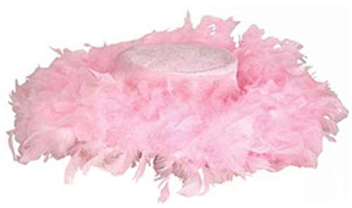 [Pink Fluffy Feather Hat] (Pimp Hat With Feather)