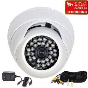 VideoSecu 700TVL Day Night IR CCTV Wide Angle Home Surveillance Security Camera Built-in 1/3