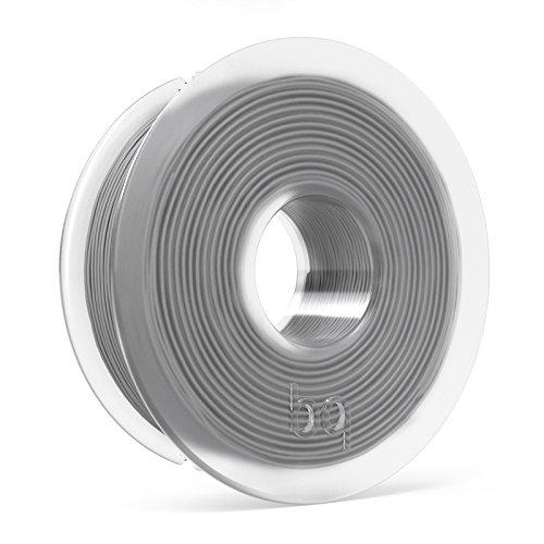 BQ F000121 – Filamento PLA de diámetro 1.75 mm, 300 g, color gris ceniza