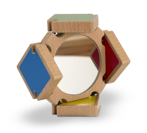 Melissa & Doug Color-Flap Mirror Wooden Clacking Toy ()