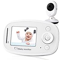 Video Baby Monitor, with Night Vision Camera, Two Way Talkback Audio and Lull...