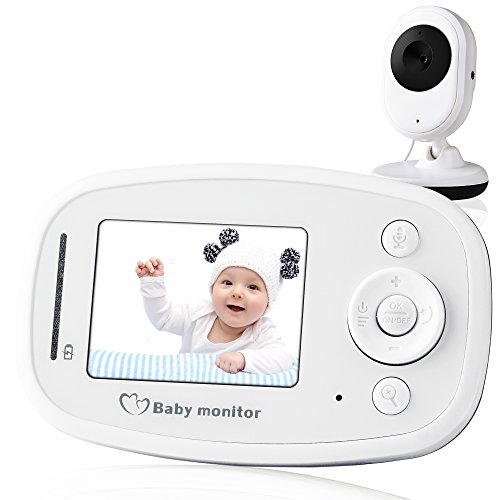 Video Baby Monitor, with Night Vision Camera, Two Way Talkback