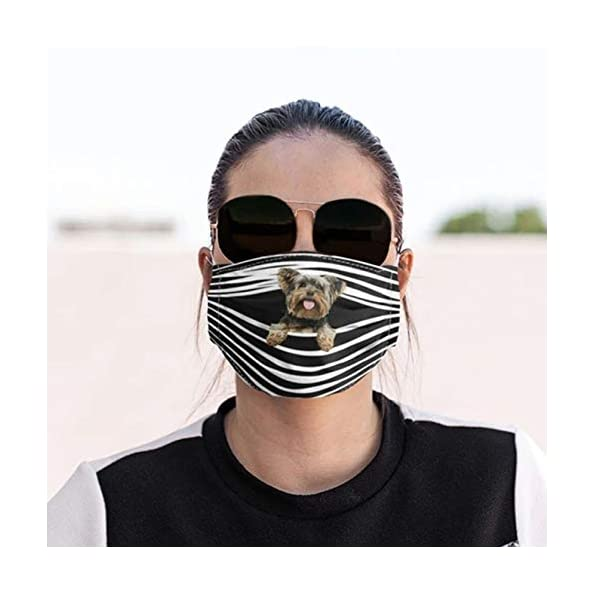 TWBB-Damen-Erwachsene-Mundschutz-mit-Motive-Katzen-Hunde-Tiger-Print-Face-Cover-Waschbar-Baumwolle-Mund-nasenschutz-Stoff-Mehrweg-Atmungsaktiv-Halstuch-Bandana-mundschutz