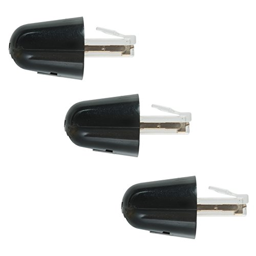 ECore Cables 15-700-005 Telephone Detangler Twist Stop Black 3 Pack (Stop Twist)