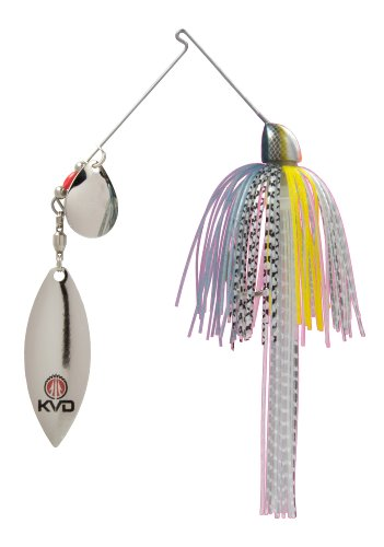 Strike King Finesse KVD Spinnerbait, Chrome Sexy Shad, 3/8-Ounce