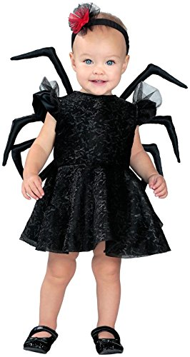 [Princess Paradise Baby Widow Deluxe Costume, Black, 6 to 12 Months] (Spider Toddler Costume)