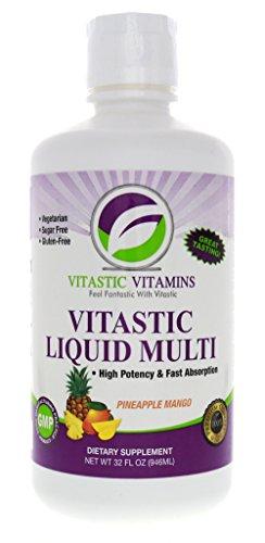 Vitastic Vitamins Liquid Multi-Vitamin Pineapple Mango (Liquid Multivitamins)