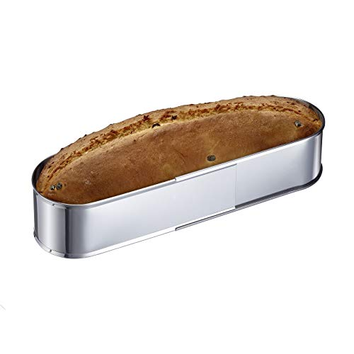 Westmark Oval baking tin- Perfect for Cakes and Breads No-Base Stainless Steel Extendable Bakeware, Stainless Steel