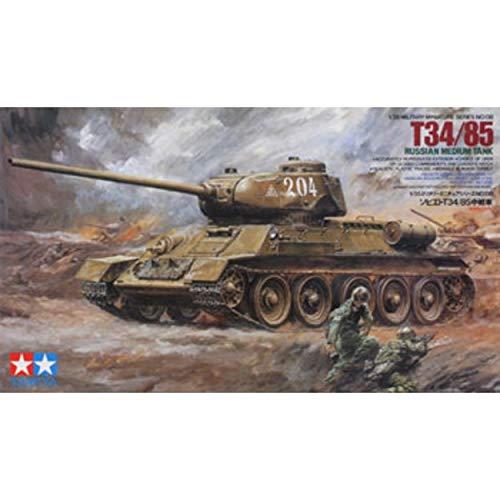 Tamiya Military Miniatures Model - Tamiya 1/35 military miniature series No.138 Soviet army T34/85 in the tank plastic model 35138