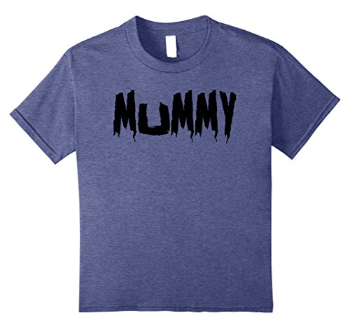 Mommy Daddy Daughter Halloween Costumes (Kids Mom's Mummy T-Shirt Funny Mother's Halloween Costume Party 8 Heather Blue)