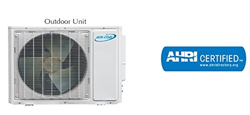 AirCon-12000BTU-15-SEER-Ductless-Mini-Split-Air-Conditioner-Heat-Pump-w-DC-Inverter-CoolingHeatingDehumidify-Includes-15ft-Copper-Lineset-208-230V