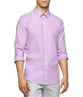 Calvin Klein Men's Long Sleeve Woven Button Down Shirt,