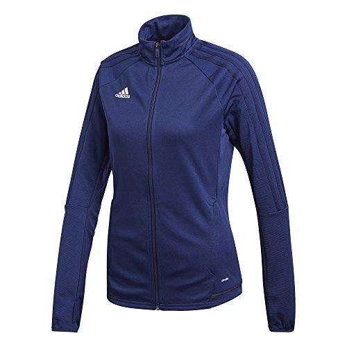 Adidas Tiro 17 Womens Soccer Training Jacket XL Dark Blue-Dark Grey-White